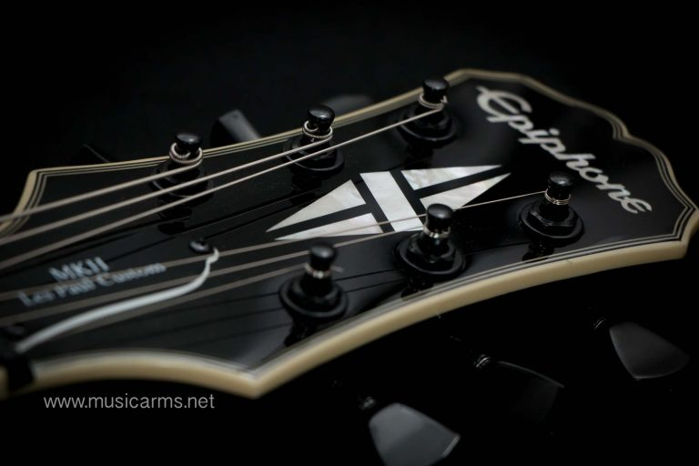 Epiphone Matt Heafy Les Paul Custom headstock ขายราคาพิเศษ