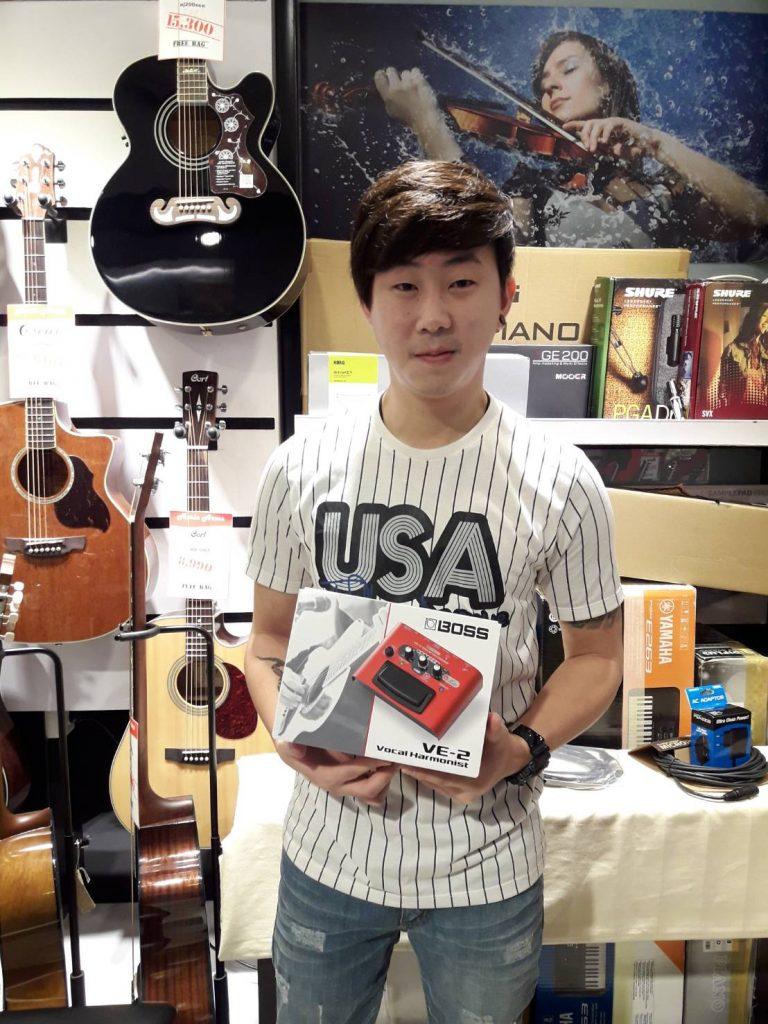ลูกค้าที่ซื้อ เอฟเฟคร้อง Boss VE-2 Vocal Harmonist