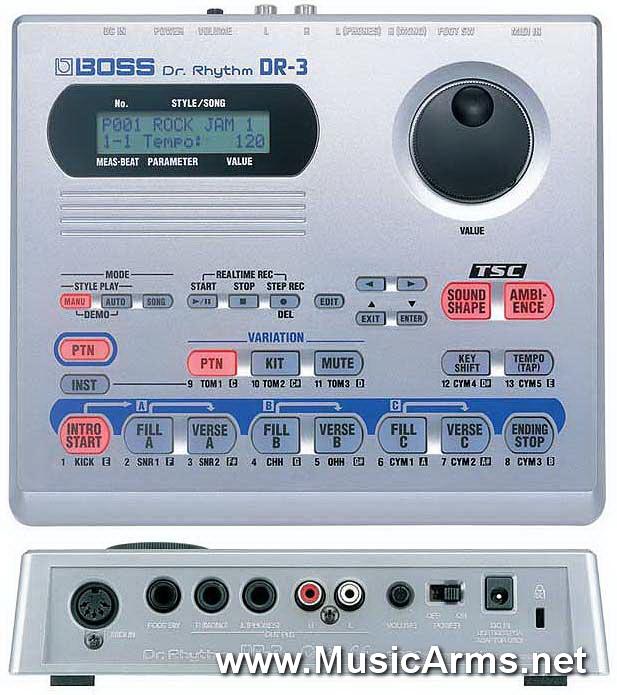 Boss DR-3 Rhythm Boss DR-3 Rhythm Machines Machines ขายราคาพิเศษ