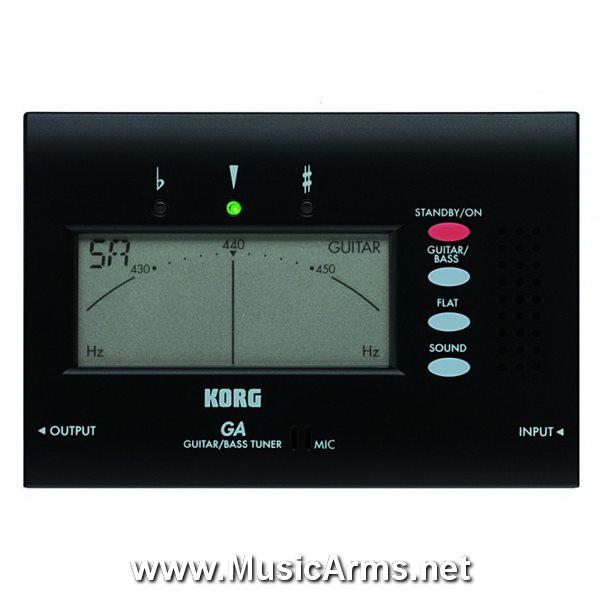 korg-ga40-bk-guitar-bass-tuner-with-output-jack-folding-stand-ราคา