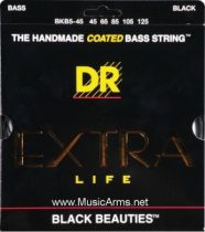 DR BKB5-45 Black Beauties Coated Steel Medium 5-String Bass Strings