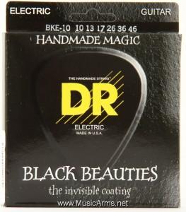 DR BKE-10 Black Beauties K3 Coated Medium Electric Guitar Strings ขายราคาพิเศษ