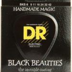 DR BKE-9 Black Beauties K3 Coated Lite Electric Guitar Strings ลดราคาพิเศษ