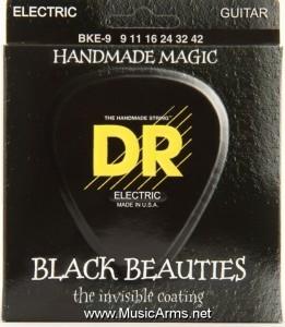 DR BKE-9 Black Beauties K3 Coated Lite Electric Guitar Strings