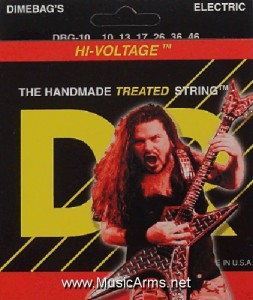 DR DBG-10 Dimebag Darrell Lite Medium Hi-Voltage Electric Guitar Strings ขายราคาพิเศษ