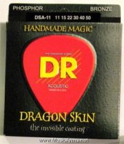 DR DSA-11 Dragonskin K3 Coated Medium Lite Acoustic Guitar Strings
