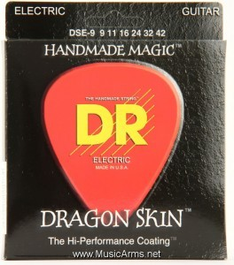 DR DSE-9 Dragon Skin Lite K3 Coated Electric Guitar Strings