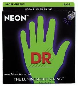 DR NGB-45 Neon Hi-Def Green K3 Coated Bass String