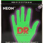 DR NGE-10 Neon Hi-Def Green K3 Coated Medium Electric Guitar Strings ลดราคาพิเศษ