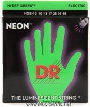 DR NGE-10 Neon Hi-Def Green K3 Coated Medium Electric Guitar Strings