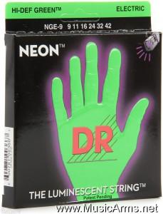 DR NGE-9 Neon Hi-Def Green K3 Coated Lite Electric Guitar Strings ขายราคาพิเศษ