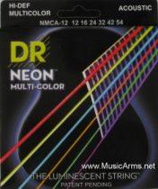 DR NMCA-12 Neon Multi-Color K3 Coated Acoustic Guitar Strings