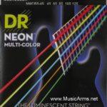 DR NMCB5-45 Neon Hi-Def Multi-Color K3 Coated Bass String ลดราคาพิเศษ