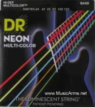 DR NMCB5-45 Neon Hi-Def Multi-Color K3 Coated Bass String