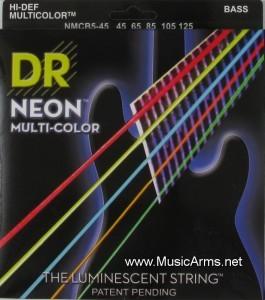 DR NMCB5-45 Neon Hi-Def Multi-Color K3 Coated Bass String