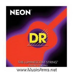 DR NOA-12 NEON Hi-Def Phosphorescent Orange Medium Acoustic Guitar Strings