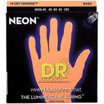 DR NOB-45 Neon Hi-Def Orange K3 Coated Bass String