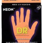 DR NOE-9 Neon Hi-Def Orange K3 Coated Lite Electric Guitar Strings ลดราคาพิเศษ