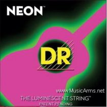 DR NPA-11 NEON Hi-Def Phosphorescent Pink Medium-Lite Acoustic Guitar Strings