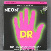 DR NPB-45 Neon Hi-Def Pink K3 Coated Bass String