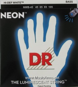 DR NWB-45 Neon Hi-Def White K3 Coated Bass String