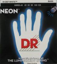 DR NWB5-45 Neon Hi-Def White K3 Coated Bass String