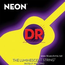 DR NYA-11 NEON Hi-Def Phosphorescent Yellow Medium-Lite Acoustic Guitar Strings