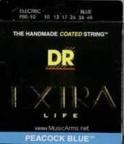 DR PBE-10 Peacock Blue Medium Electric Guitar Strings