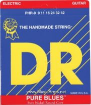 DR PHR-9 Pure Blues Pure Nickel Lite Electric Guitar Strings