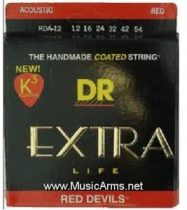 DR RDA-12 Red Devils Extra Life Medium Acoustic Guitar Strings