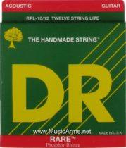 DR RPL-10-12 Rare Phosphor Bronze Lite12-String Acoustic Guitar Strings
