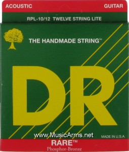 DR RPL-10-12 Rare Phosphor Bronze Lite12-String Acoustic Guitar Strings ขายราคาพิเศษ