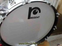 กลองใหญ่ Regent 22 นิ้ว 10 หลัก ขอบเหล็ก เกลียวยาว สีขาว