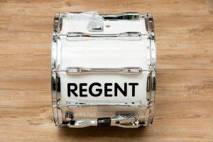Regent กลองพาเหรดขอบเหล็ก 14 นิ้ว 10 หลัก สีขาว เกลียวยาว กล่องจดหมาย x