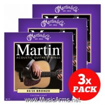 MARTIN 3 Pack Martin M175 Custom Light 8020 Bronze
