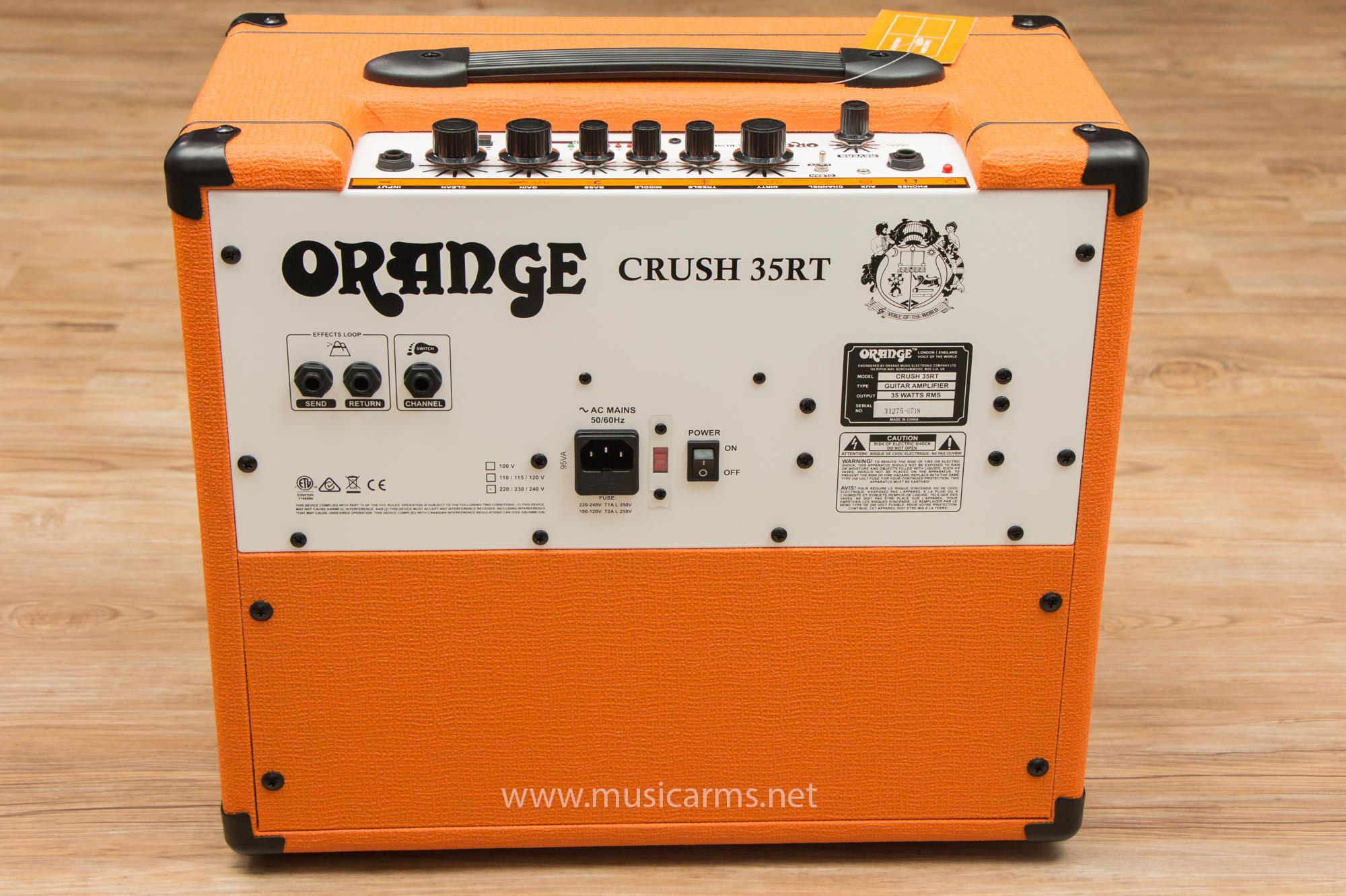 ด้านหลัง Orange Crush 35RT Guitar Amp