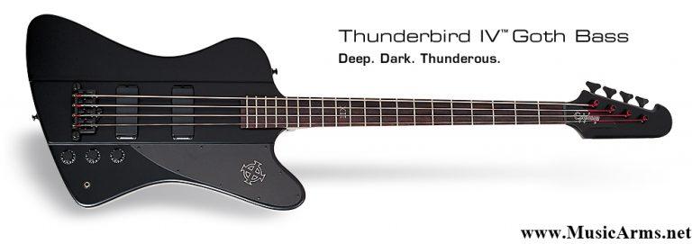 Epiphone Goth T-Bird Bass Pitchblack ขายราคาพิเศษ