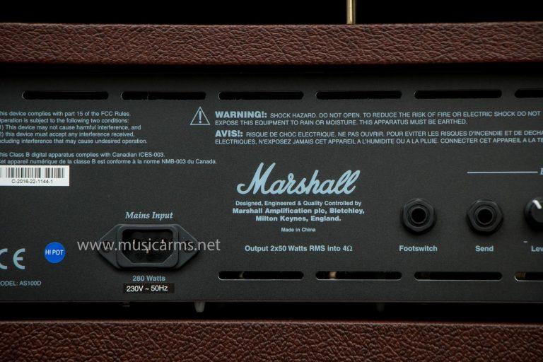 ด้านหลัง Marshall AS100 D ขายราคาพิเศษ