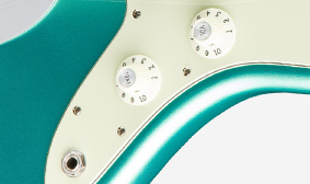 Fender American Pro Jazzmasterรูแจ็คและวอลุ่ม