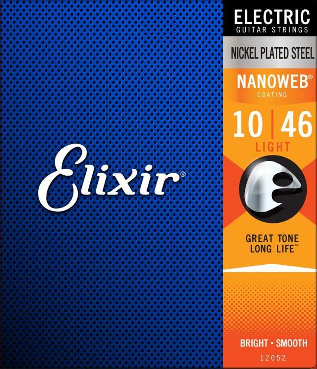 สายกีต้าร์ไฟฟ้า Elixer Nanoweb เบอร์ 10-46 ขายราคาพิเศษ