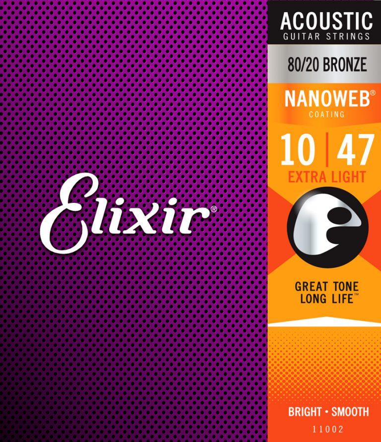สายกีต้าร์ Elixer Nanoweb เบอร์ 10 รุ่น 11002 ขายราคาพิเศษ