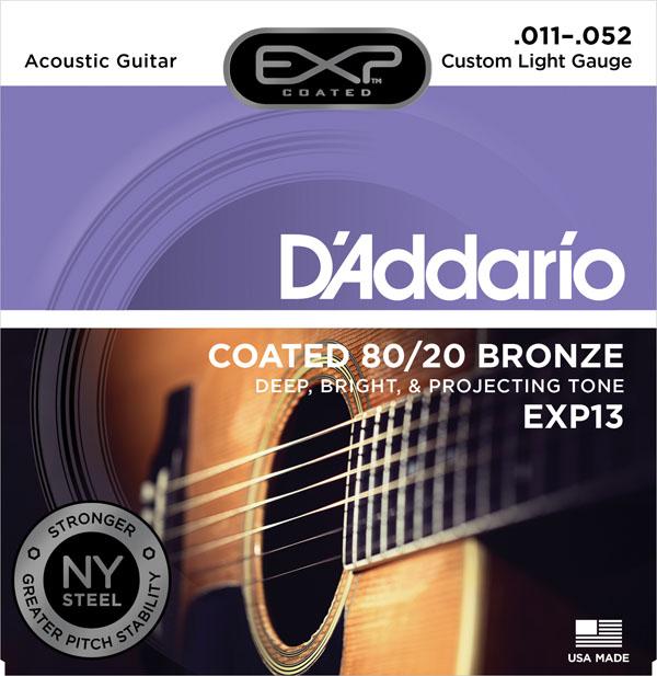 สายกีต้าร์โปร่ง D'Addario EXP13 ขายราคาพิเศษ