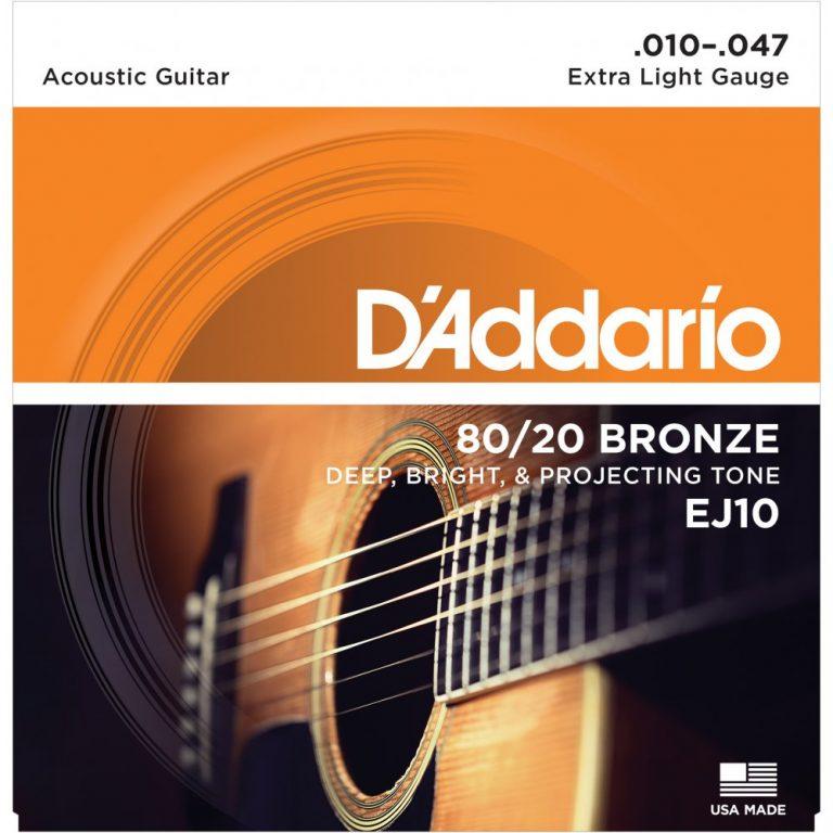 สายกีต้าร์โปร่ง D'Addario EJ10 ขายราคาพิเศษ