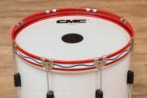 กลองใหญ่ CMC 20 นิ้ว 8 หลัก สีขาว ขอบเหล็กสีแดง CMC212