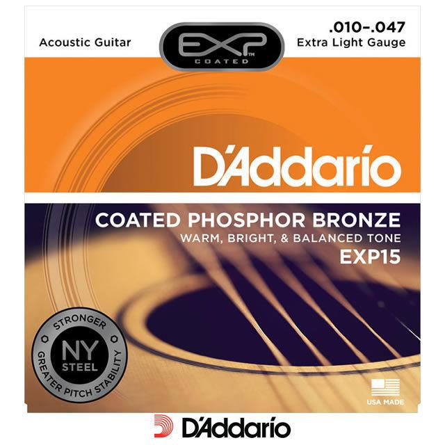 สายกีต้าร์โปร่ง D'Addario EXP15 ขายราคาพิเศษ