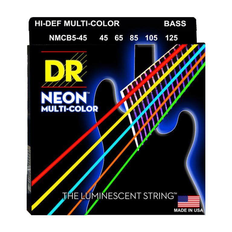 สายเบส DR Neon Hi-Def Multi-Color K3 Coated Bass String 45-125 ขายราคาพิเศษ