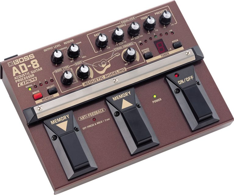 Boss AD-8 Acoustic Guitar Processor Pedal ขายราคาพิเศษ