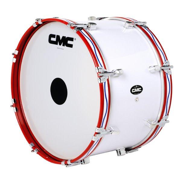 กลองใหญ่ CMC 22 นิ้ว 8 หลัก สีขาว หลักคู่โครเมี่ยม CMC-S336 ขายราคาพิเศษ