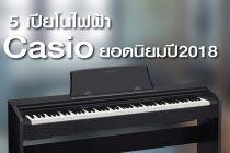 แนะนำ 5 รุ่น เปียโนไฟฟ้า Casio ยอดนิยม