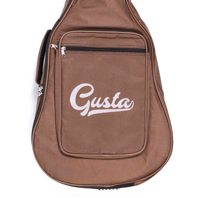 กระเป๋ากีต้าร์ Gusta QB-MB- สีน้ำตาล ขนาดข้างใน12MM ด้านล่าง ขายราคาพิเศษ